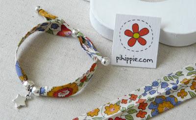Regalos Comunión pulseras cinta Liberty flores originales invitados