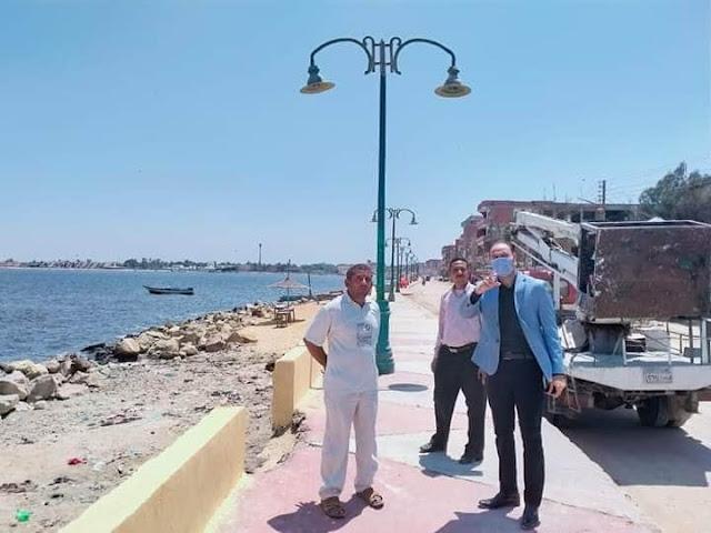 رئيس أبشواي يتابع استعدادات المدينة لاستقبال عيد الأضحى
