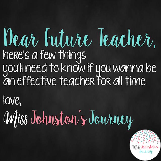 Dear Future Teacher- helpful tips for a pre-service or new teacher