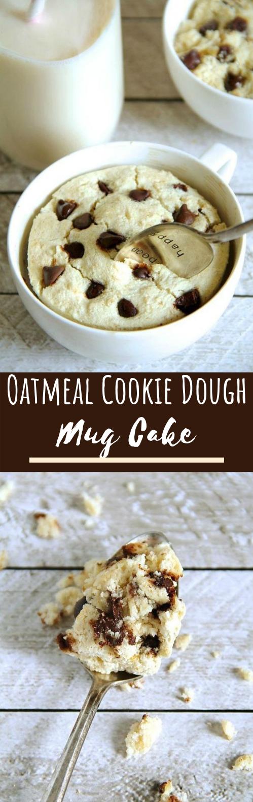Oatmeal Cookie Dough Mug Cake #cake #desserts