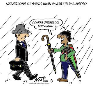 khan, londra, sindaco, musulmani, vignetta, satira