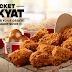 《优惠每天有 PROMOTION》KFC 推出Bucket Rakyat 配套,6片装炸鸡任选口味,再加大盒薯泥和2碗上校饭,只需RM34.90!