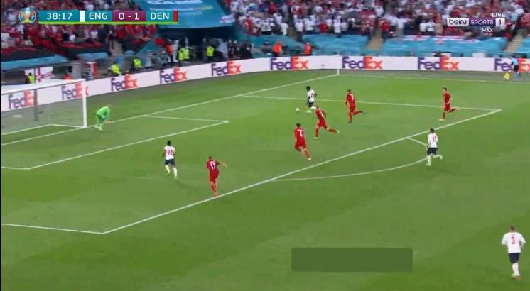 هدف تعادل انجلترا مع الدنمارك