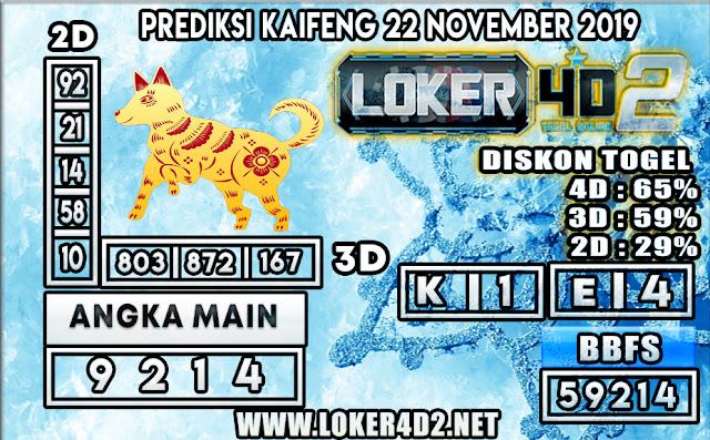 PREDIKSI TOGEL KAIFENG POOLS LOKER4D2 22 NOVEMBER 2019