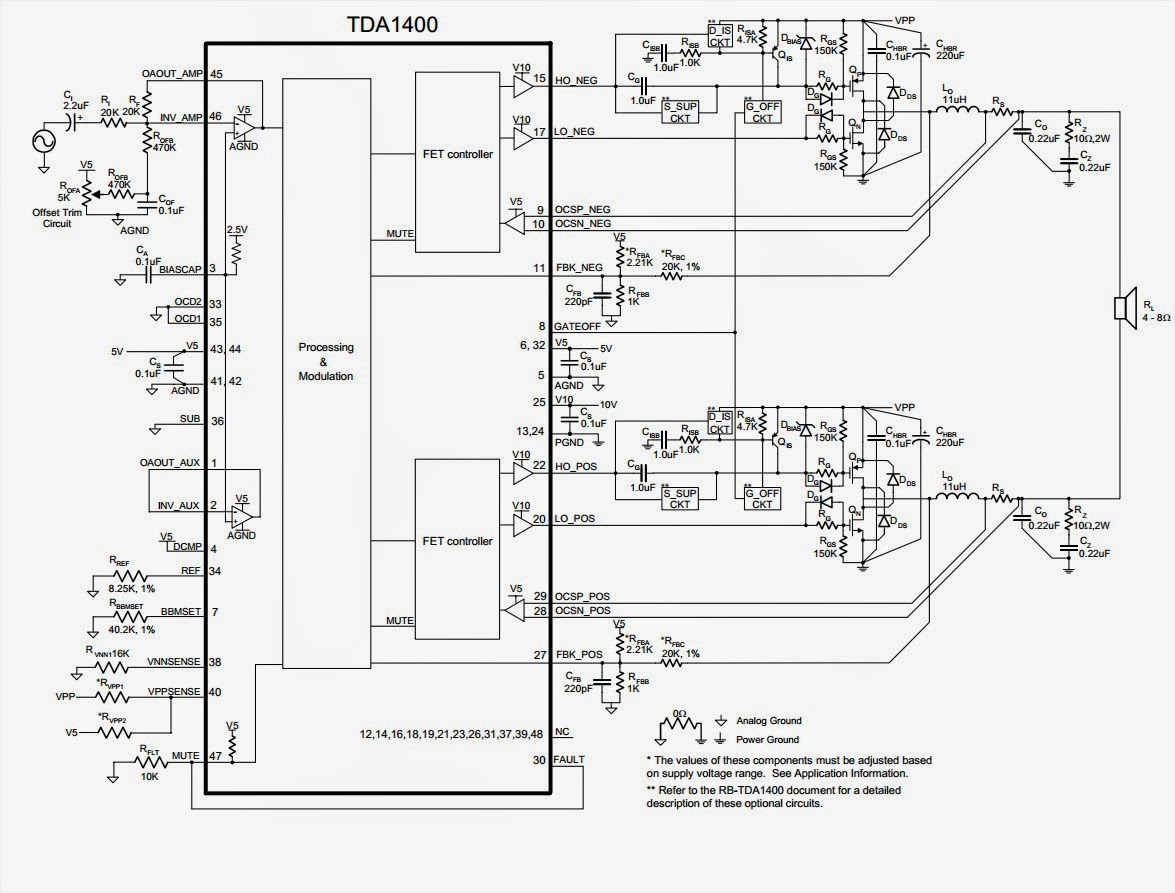 24w audio amplifier class a circuit diagram
