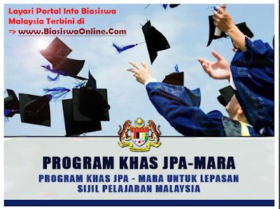Biasiswa JPA-MARA – Program Khas Untuk Lepasan SPM