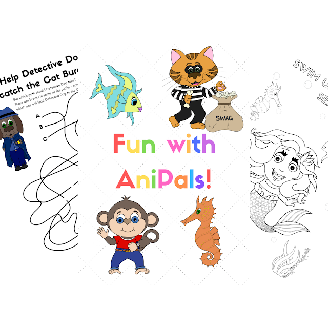 How To Play With Your Kids When You Don't Like To Play | Why not try out the Fun with Anipals! activity book together?