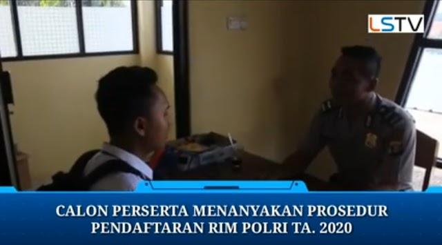 Polres Tanggamus Berikan Penjelasan Prosedur Pendaftaran RIM Polri TA. 2020 Bagi Calon Perseta