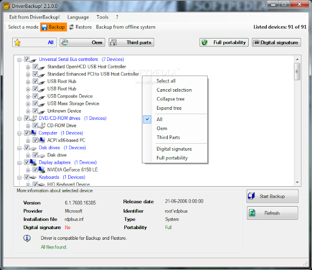 DriverBackup! para Windows