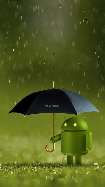Papel de Parede Boneco Android Verde