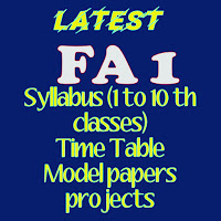 Formative assesment 1 Syllabus for Primary and UP ,High school , Time table ,Model Papers