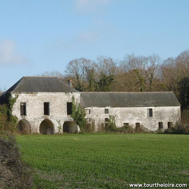 Farm building at the Chateau de la Tourballiere, Indre et Loire, France. Photo by Loire Valley Time Travel.