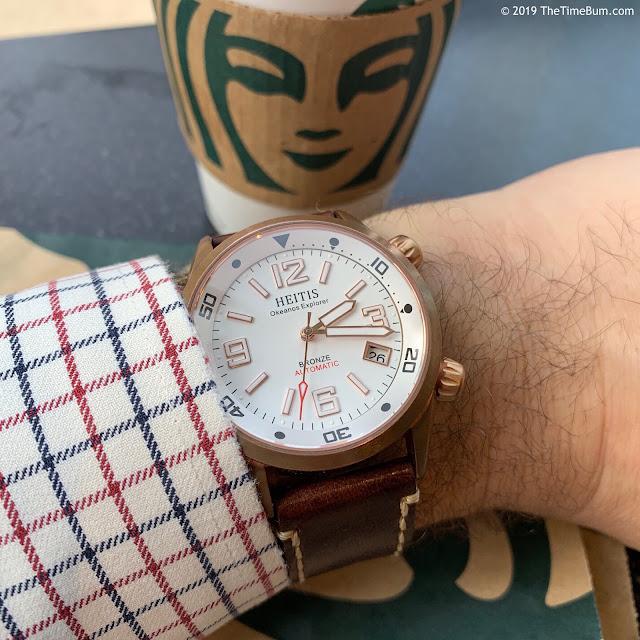 Heitis Okeanos Bronze white wrist