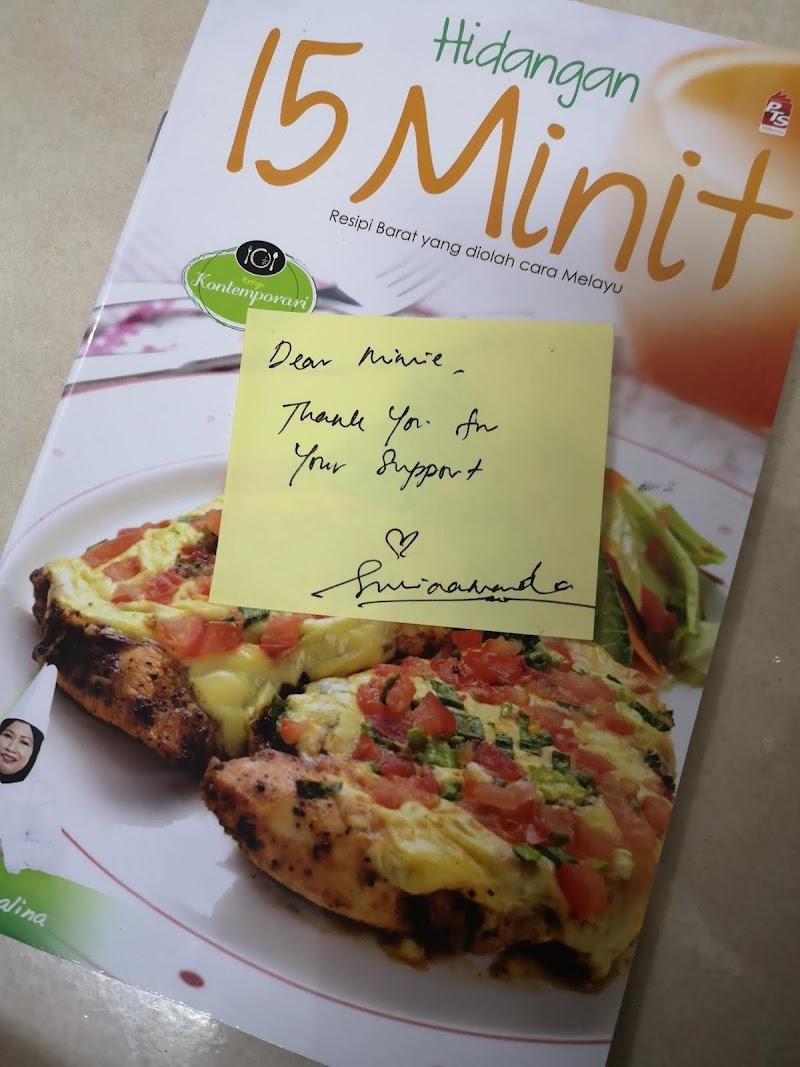 Buku Resipi Hidangan 15 Minit Hadiah Top Komentator Blog Kak Suria Amanda