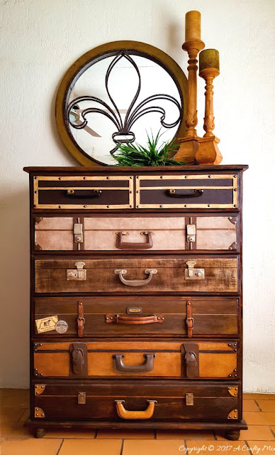 How to make a Faux Suitcase Dresser featured at Talk of the Town