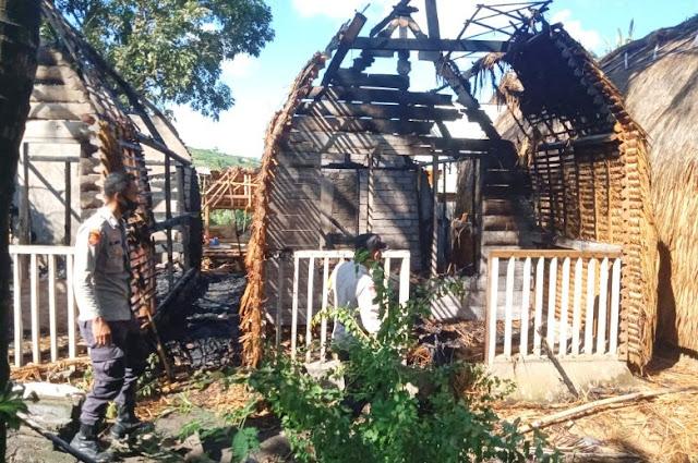 Villa Idris di Lombok Tengah terbakar, gegara daun alang-alang