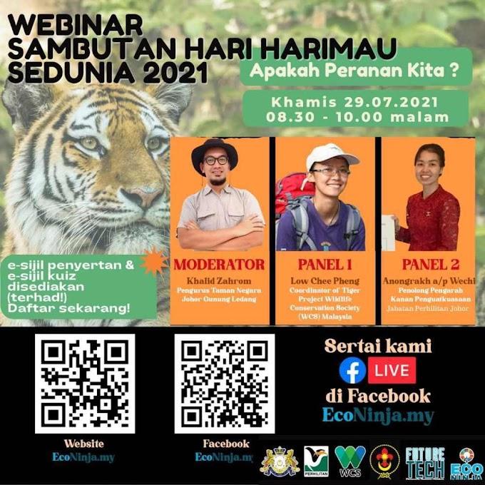 Webinar Sambutan Hari Harimau Sedunia 2021