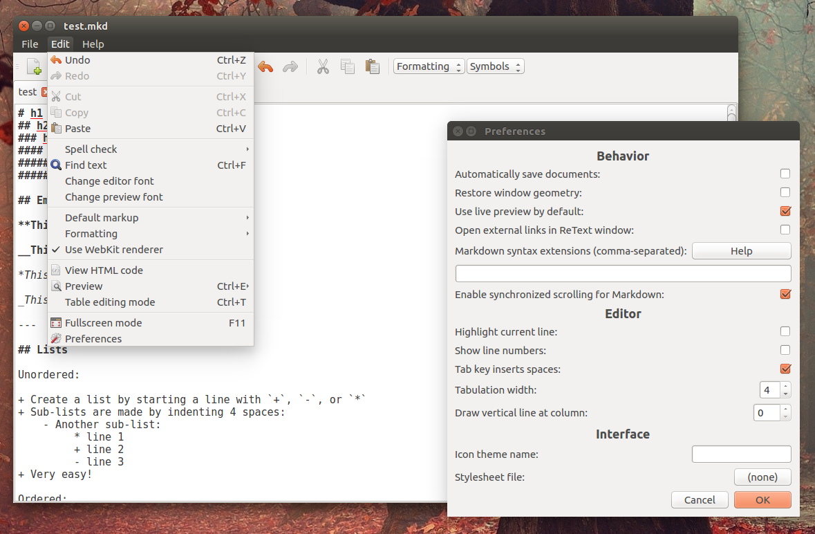 Markdown And reStructuredText Editor `ReText` Sees New Release ~ Web