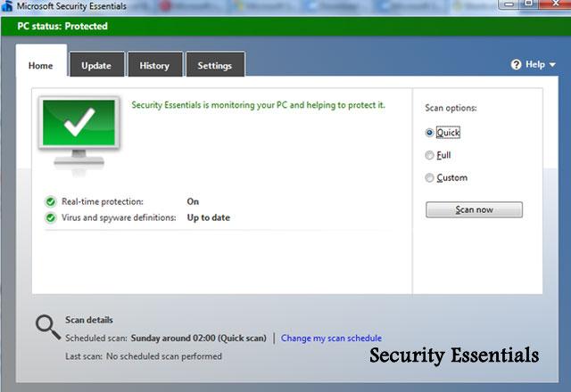 برنامج Microsoft Security Essentials اخر اصدار