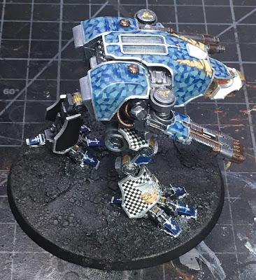 Legio Tempestus Warhound WIP for Adeptus Titanicus