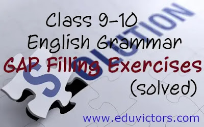 CBSE Class 10 English (Lang. & Lit.) Grammar - Gap Filling Exercises (Cloze Test - Set 5 )(#eduvictors)(#cbseClass10English)