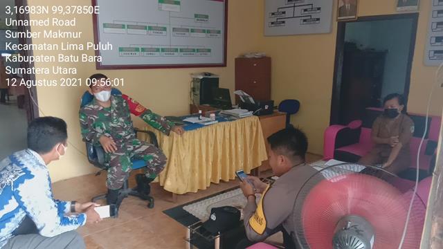 Komunikasi Sosial Dilaksanakan Personel Jajaran Kodim 0208/Asahan Bersama Kepala Desa Diwilayah Binaan