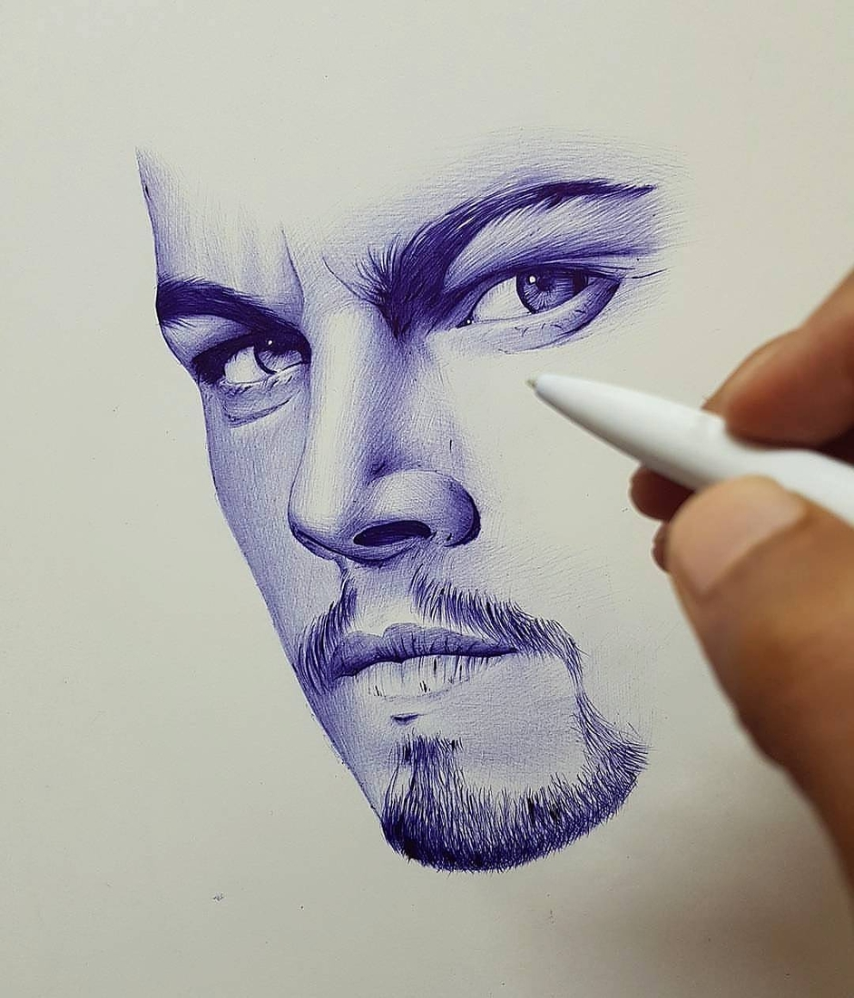 05-Hisham-Albayyat-Pen-Pencil-and-Charcoal-Portrait-Drawings-www-designstack-co
