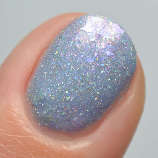 periwinkle holo crelly nail polish