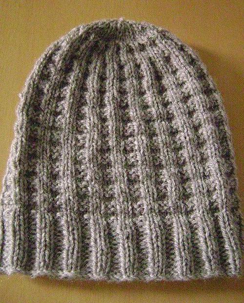 Waffle Hat - Free Knitting Pattern