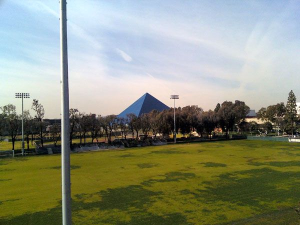 A photo I took of the Walter Pyramid at Cal State Long Beach, on January 5, 2013.