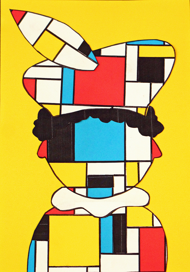 Piet Mondriaan knutselen de stijl