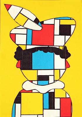 Sinterklaas knutselen - Piet Mondriaan