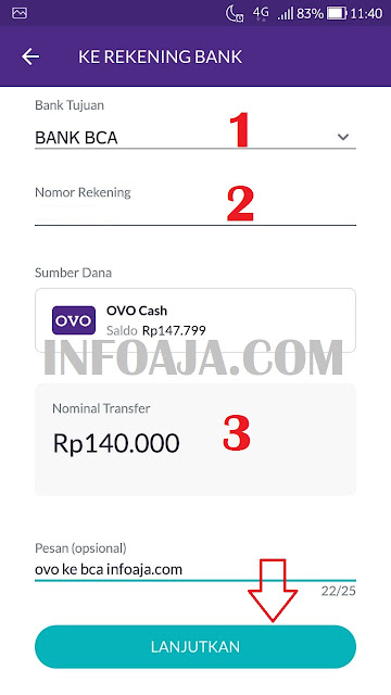 Rekening Bank di OVO
