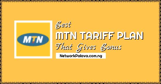 mtn tariff plan that gives bonus