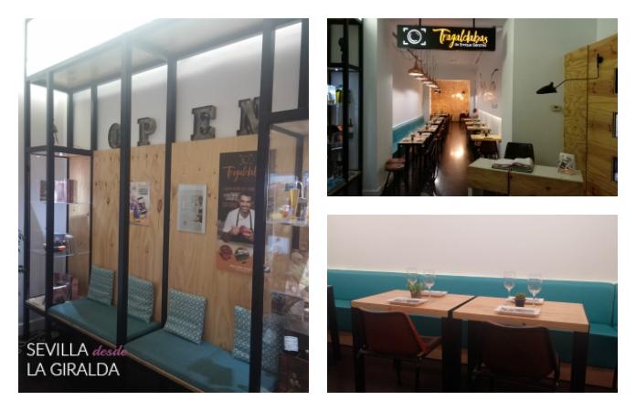 Interior del restaurante de Enrique Sánchez hall, y sala.