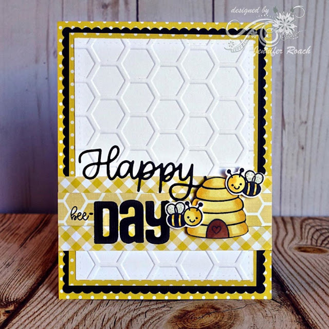 Sunny Studio Stamps: Just Bee-cause Customer Card by Jennifer Roach