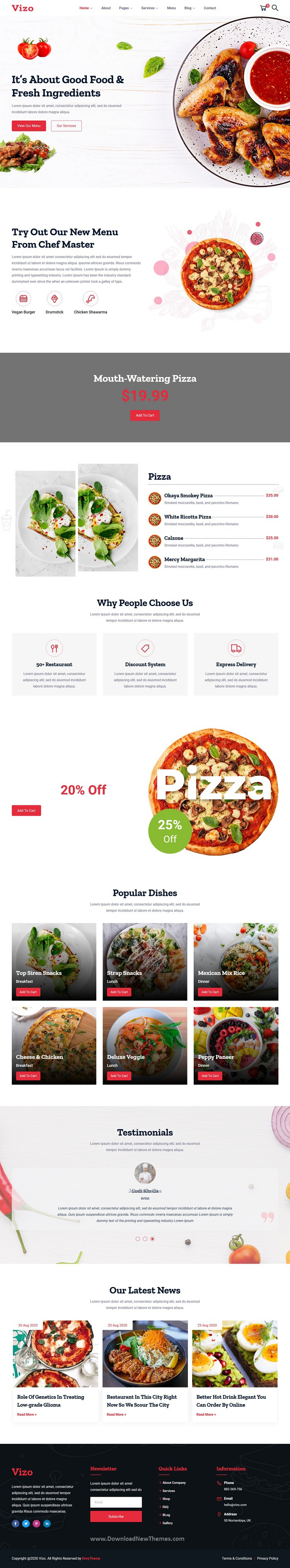 Restaurant & Cafe HTML Template