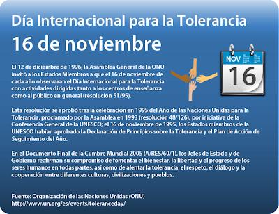 Resultado de imagen para Día Internacional para la Tolerancia