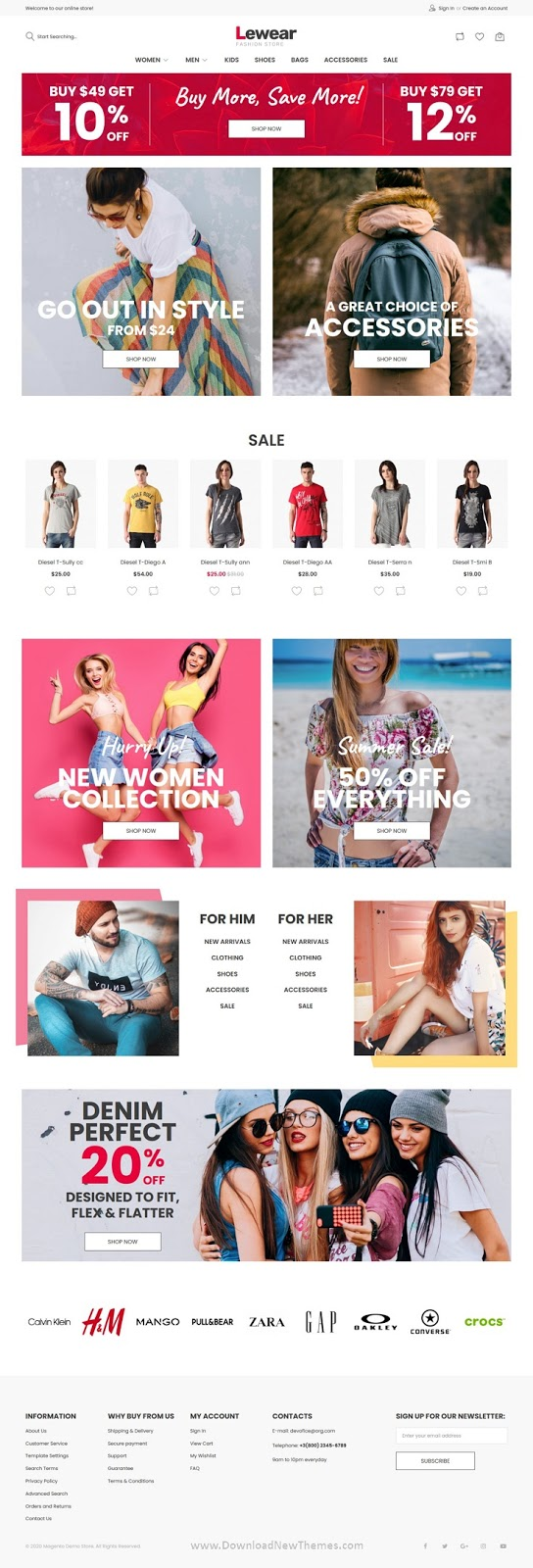Premium Best Magento Theme for fashion store website