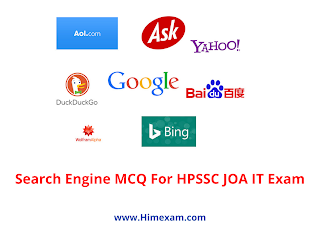 Search Engine MCQ For HPSSC JOA IT Exam