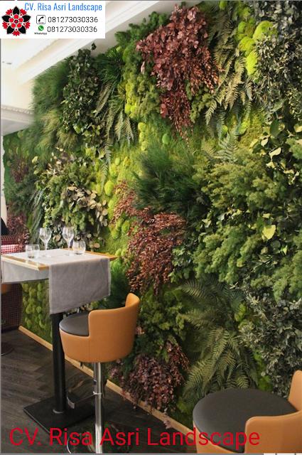 mengerjakan vertical garden sintetis artificial plant / artificial flower di Sidoarjo