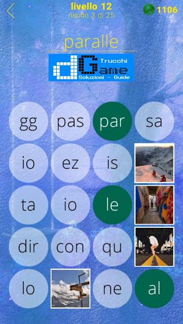 650 Foto soluzione pacchetto 12 livelli (1-25)