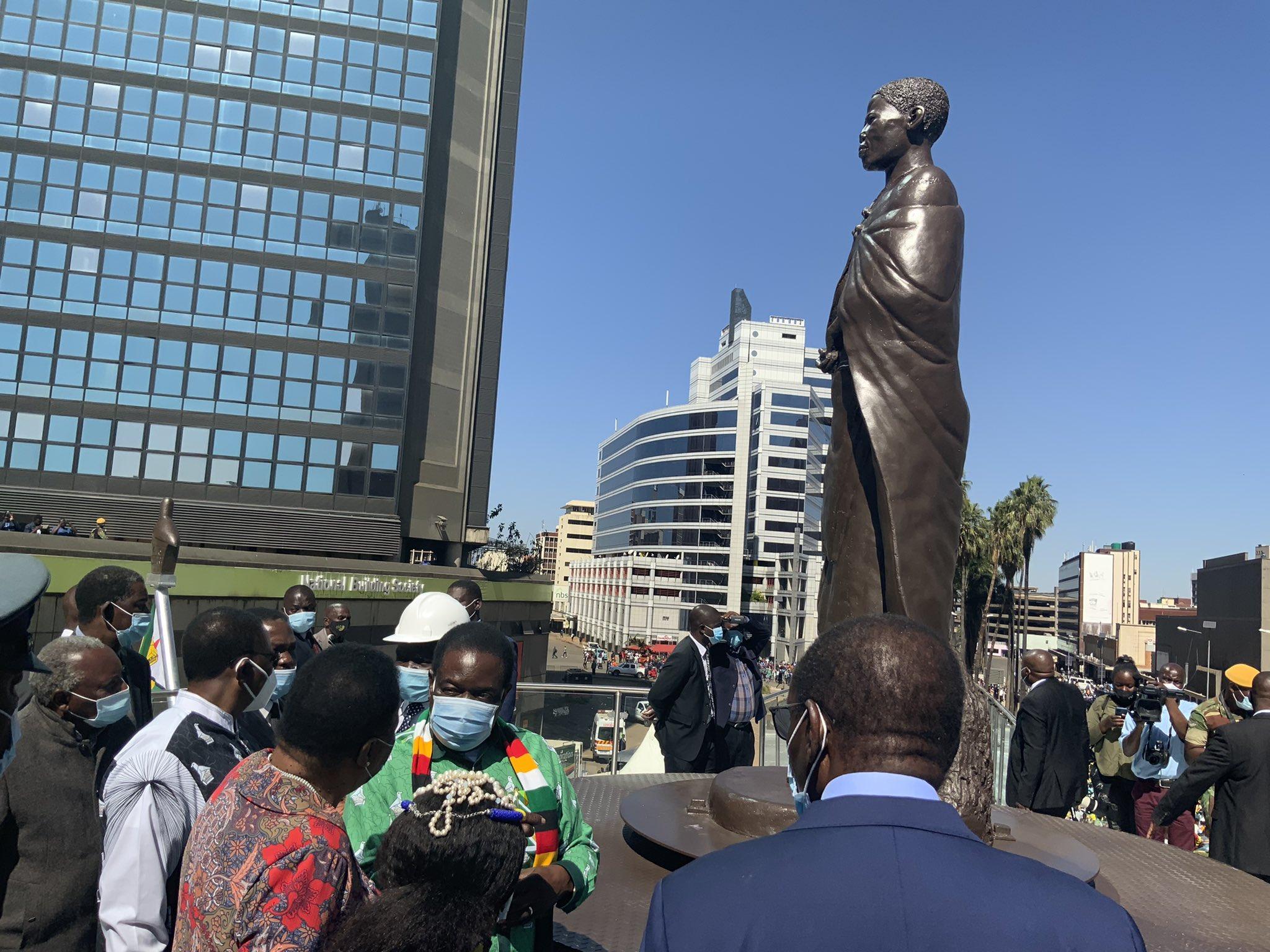 Mbuya Nehanda's Statue In Samora Machel Avenue Ro Re-Open!
