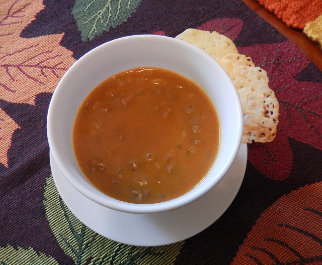 Healthy Soup Dinner Cheese Crackers Low Carb
