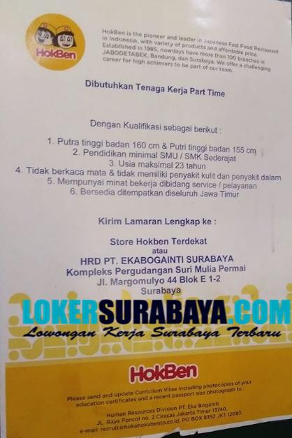 Info Lowongan Kerja Di Hokben Surabaya Januari 2020 Lowongan Kerja Surabaya Januari 2021 Lowongan Kerja Jawa Timur Terbaru