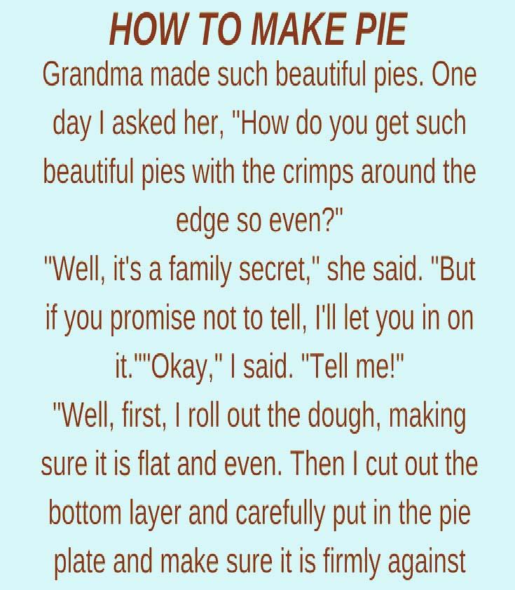 Make Pie Just Like How Grandma ...granniesjokes.com