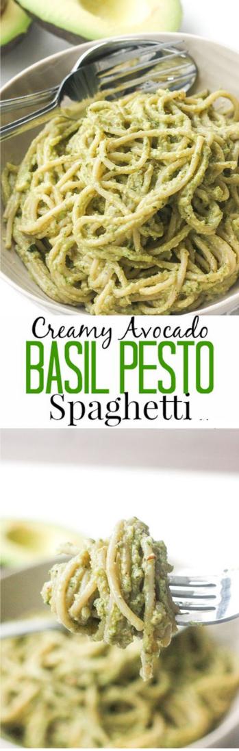Smooth AVOCADO BASIL PESTO SPAGHETTI  #food