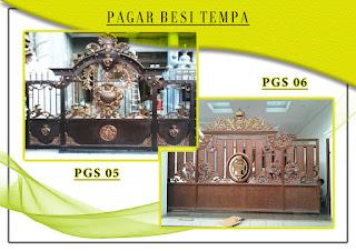 Katalog pintu gerbang besi tempa, pintu gerbang tempa sederhana 05