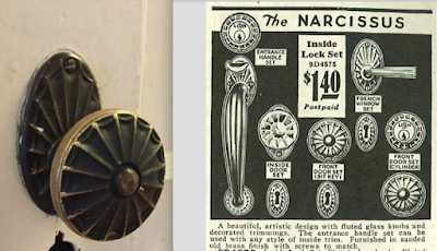 Sears Narcissus door handle from 1930 Building supplies catalog