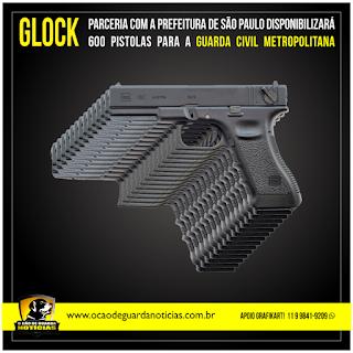 João Doria fecha parceria com a Glock - Empresa doará 600 pistolas para a GCM